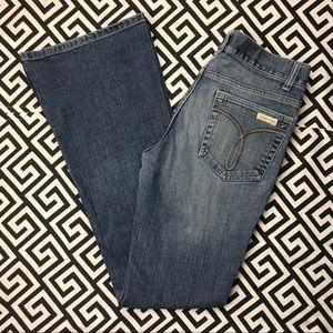 •Calvin Klein• low rise flare jeans 28 vintage EUC